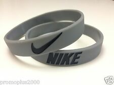 Nike Sport Baller Band Grey w/Black Silicone Rubber Bracelet Wristband