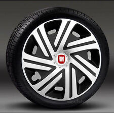 "Set of 4 wheel trims 15"" Hub Caps, Covers to fit Fiat Punto,Stilo,Doblo,Multipla"