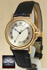 Breguet Horloger De La Marine 18k Yellow Gold Date Automatic Mens Watch
