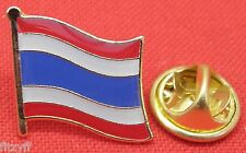 Thailand Thai Country Flag Lapel Hat Cap Tie Pin Badge Brooch