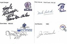 1961-68 Mike Holovak Boston Patriots Football Signed Index Card Deceased Coach