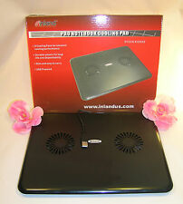 New Computer Cooling Pad 2 Fans USB Powered for Notebook Lap Top Tablet