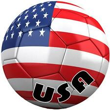 decal sticker car bumper flag soccer ball football usa united states america