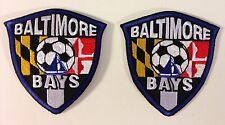 Baltimore Bays Soccer Iron On / Sew-On Embroidered Patch Lot of 2