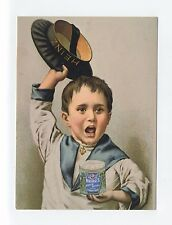 ad367 - advert for Heinz Baked Beans (different tin) - young boy  - art postcard