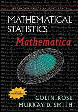 Mathematical Statistics with Mathematica (Springer Texts in Statistics), Smith,
