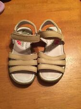 Girls Size 25 8.5 9 Naturino Leather Beige Sandals