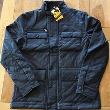 Men's BNWT diamond quilted, leather look DRUNKNMUNKY biker neck jacket large