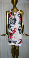 COLORFUL NEW WHITE HOUSE BLACK MARKET TUNIC TOP Large  NWT White Floral