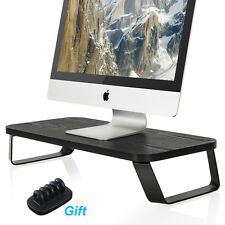 Fitueyes Wooden Computer Monitor Riser Save Space Desktop Stand For Laptop Stand