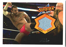 WWE CM Punk 2013 Topps Triple Threat SummerSlam Event Used Mat Relic Card