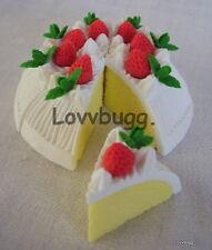 """White Cake 8 pcs Doll Food for 18"""" American Girl  Lovvbugg ! Widest Selection!"""