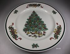 """JOHNSON BROTHERS VICTORIAN CHRISTMAS DINNER PLATES 10 1/4"""" - SET OF 2 - PERFECT"""