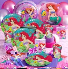 DELUXE The Little Mermaid Birthday Party Supplies Set for 6 (SUPER DEAL)