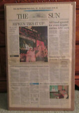 VINTAGE NEWSPAPER FROM BALTIMORE SUN CAL RIPKEN JR TIES GEHRIG 9-6-95