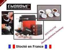 LOT DE 10 CAPSULE EMOHOME POUR MACHINE NESPRESSO - DOSETTE RECHARGEABLE CAFE