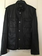 MICHAEL KORS Mens Coat Jacket XL Leather Vest NWT Sheepskin Removable Sleeves
