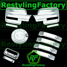 09-14 Ford F150 Chrome Mirror w/ Light+4 Door Handle Lever+GAS+Tailgate Cover