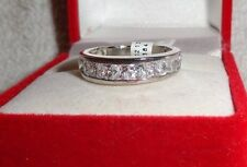 925 Sterling Silver Created Cubic Zirconia Channel Set Ring Sizes 5  9