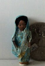 "Dollhouse Miniature Porcelain Dollhouse Doll Ethel Hicks ""Wee India Girl"""