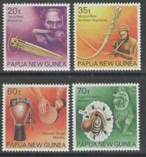 PAPUA NEW GUINEA SG628/31 1990 MUSICAL INSTRUMENTS MNH