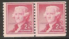U.S. UNUSED 1055  MNH  Line pair as shown - shiny gum, dry   (R4851)