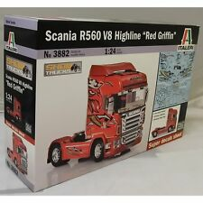 Italeri 1:24 3882 R560 V8 Scania Camión Kit Modelo Highline Rojo Griffin