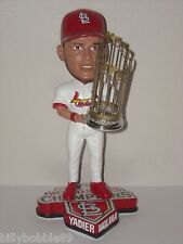 YADIER MOLINA St Louis Cardinals Bobble Head 2011 World Series Champs Trophy 1