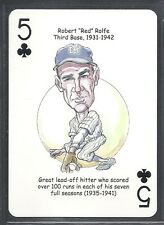 2008 Hero Deck Playing Card - New York Yankees - Red Rolfe