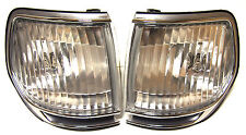 Toyota Lexus Land Cruiser HDJ80 Chrome Indicators Corner Lights one PAIR crystal