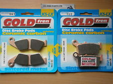 HONDA XR 650 L XR650 1996   FULL SET SINTERED FRONT & REAR BRAKE PADS *GOLDFREN*