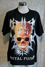 goth/punk/emo/-' METAL PUNK' SKULL T-SHIRTS.  SIZES MEDIUM, LARGE, EXTRA LARGE