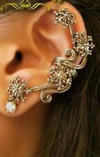 1Pc New Charm Vintage Fashion Rhinestone Rose Flower Ear Cuff Stud Earring  DICA