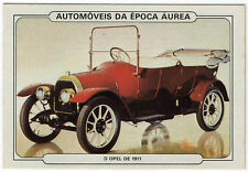 1986 Portugese Pocket Calendar Featuring Vintage Car - Opel 5/12 PS Puppchen