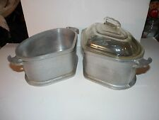 Guardian Service Ware 2 Qt Aluminum Triangle Covered Roaster Pot Pan Set