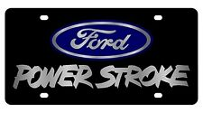 New Ford Power Stroke Blue Logo Acrylic License Plate