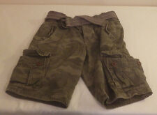 Hollister Mens Cargo Camo Green with Belt Shorts Guy Size 28 New Nwt