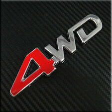 Car 4x4 4WD Red 4 4 wheel drive for SUV Trunk  Badge  Emblem