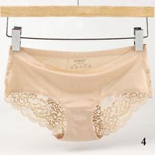 Damen unterhose Lingerie Soft Silk Satin Unterwäsche Slips Knickers G-String