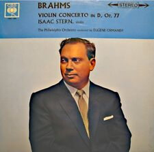 ISAAC STERN/EUGENE ORMANDY/PHILADELPHIA ORCH. violin concerto BRAHMS LP CBS VG++