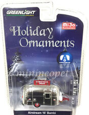GREENLIGHT 51078 AIRSTREAM 16' BAMBI 1/64 CHRISTMAS HOLIDAY ORNAMENT CHROME