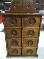 Antique hanging 8 drawer spice cabinet