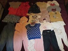 BABY GIRL CLOTHES BUNDLE 6-12 MONTHS TOPS DRESSES SLEEPSUITS & JEANS