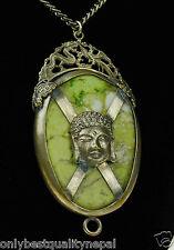 Increíble Amuleto Buda Hongkong Plata Antiguo Talismán a73