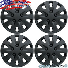 "4 NEW OEM BLACK 17"" HUB CAPS FITS DODGE SUV CAR TRUCK CENTER WHEEL COVERS SET"