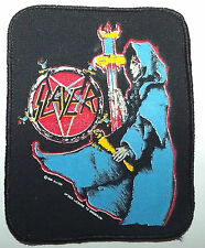 SLAYER Original Vintage 1990 Printed Sew On Patch Brockum Merchandise
