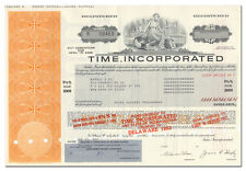 Time, Incorporated Bond Certificate (Time, Sports Illustrated, Life)