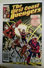 Marvel Comics The West Coast Avengers #1 1985 Iron Man Hawkeye