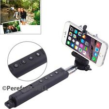New Bluetooth Remote Selfie Stick + Camera + Focus Built Button For iPhone 5 6