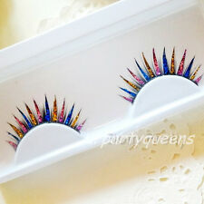 Fashion Colorful Glitter Feather False Fake Eyelashes Eye Lashes for Party Stage